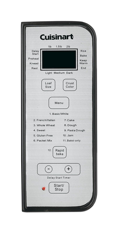 Cuisinart CBK-100 control panel