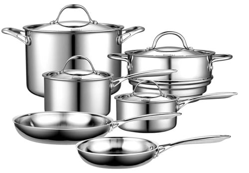 Cooks Standard Multi-Ply Clad Cookware Set