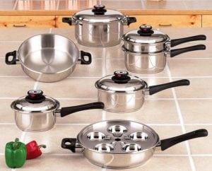 Maxam KT17 Cookware Set