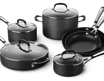 Simply Calphalon SA10H Nonstick Hard-Anodized 10-Piece Cookware Set