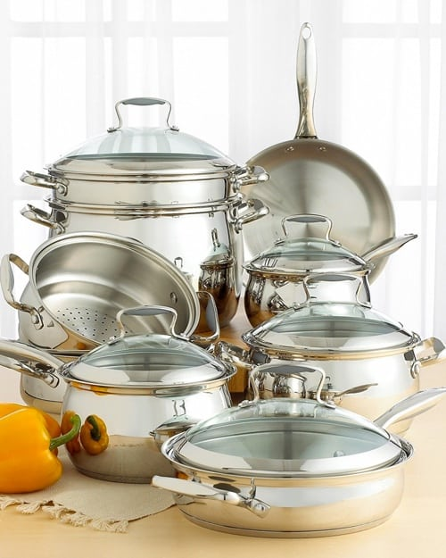 tools of the trade belgique stainless steel 14 piece cookware set. Black Bedroom Furniture Sets. Home Design Ideas