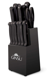 Ginsu KIS-KB-DS-014-4 Kiso Dishwasher Safe 14 Piece Set Black Block